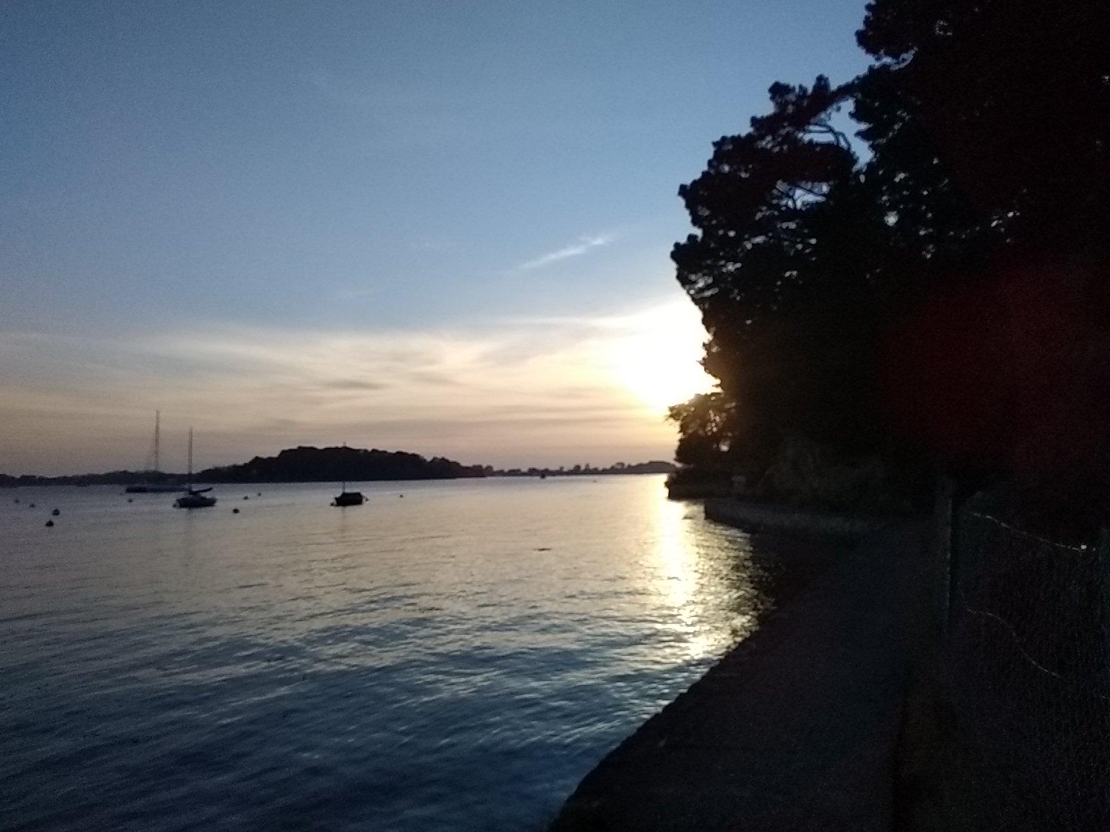 coucher du soleil la pointe